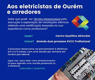 Aos eletrotécnicos de Ourém e arredores.
