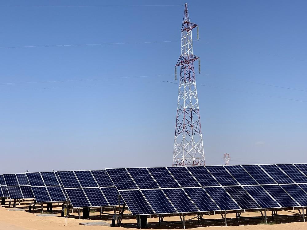 Solarpark in Tunesien/ Bild: Peter Stein