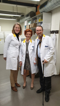Patrick and Anne-Marie from the Demoucelle Charity Foundation visit our labs!