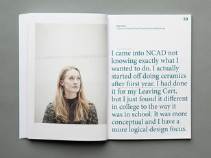 The National College of Art and Design's Prospectus 2015/16.