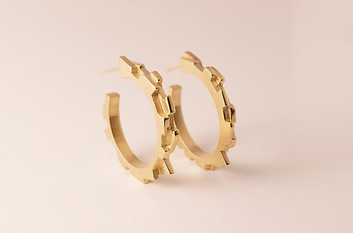 Large Gold Vermeil Melodic Hoops