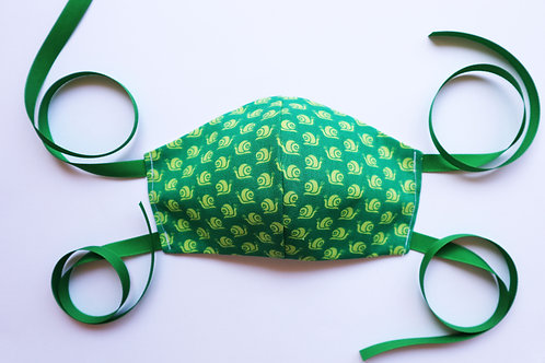 100% Cotton Snail Print Mask