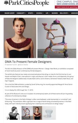 Women + Design: New Works, Sept 2018
