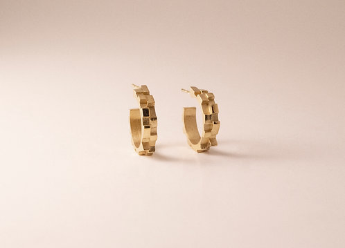 Small Gold Vermeil Melodic Hoops
