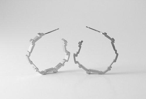 Sterling Silver Harmonic Hoops