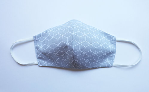 100% Cotton Geometric Print Mask