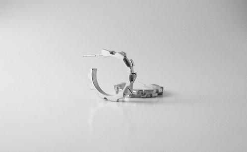 Medium Sterling Silver Melodic Hoops