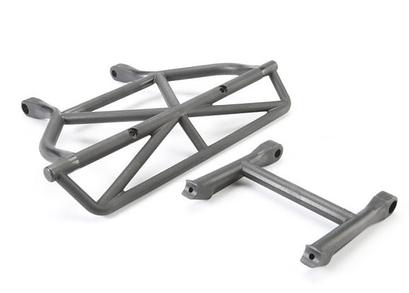 5836 - Bumper, rear/ bumper mount, rear (black)