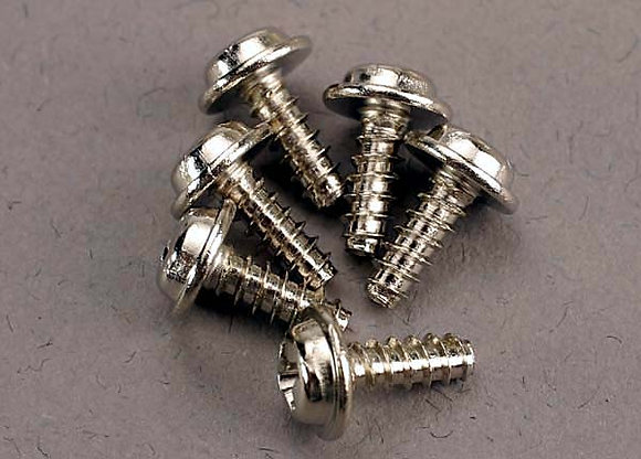 3290 - Screws, 3x8mm washerhead self-tapping (6)