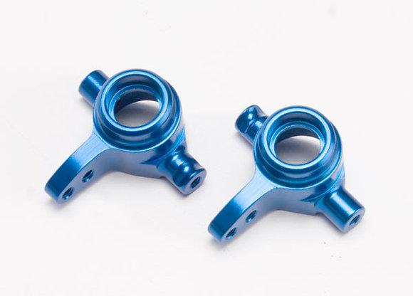 6837X - Steering blocks, 6061-T6 aluminum (blue-anodized), left & right