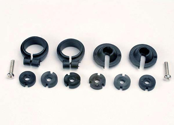 1965 - Piston head set, (2 sets of 3 types)/ shock collars (2)/ spring retainers