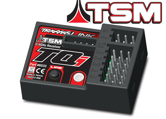 6533 - Receiver, micro, TQi 2.4GHz with telemetry & TSM (5-channel)