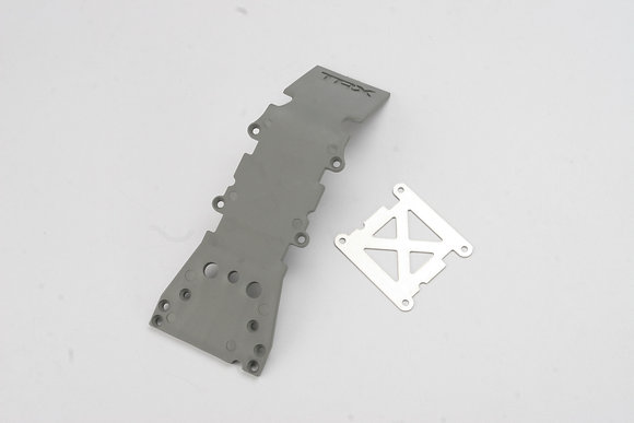 4937A - Skidplate, front plastic (gray)/ stainless steel plate