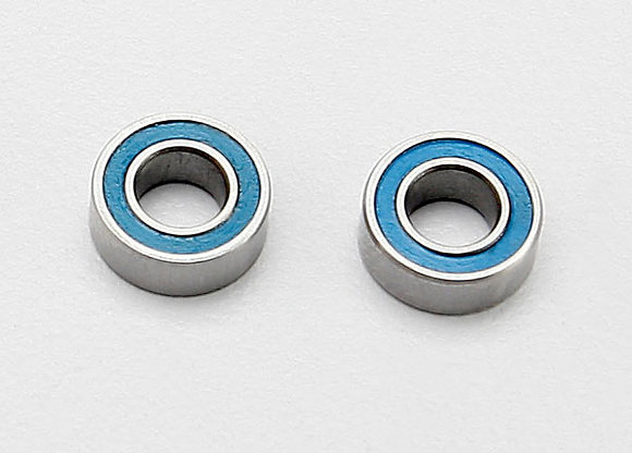 7019 - Ball bearings, blue rubber sealed (4x8x3mm) (2)