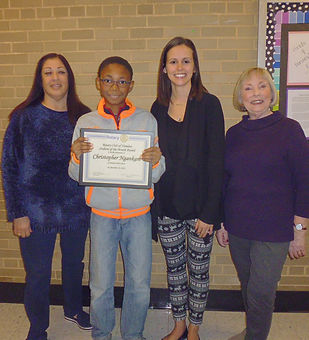 The Hamden Rotary Club has honored Christopher Ngankam as its December 2018 Student of the Month.