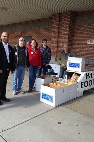 Hamden Rotarians Food Drive