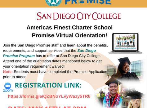 San Diego Community College: Promise Virtual Orientation