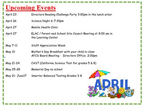 April-June Events