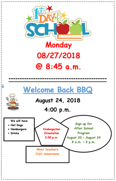 First day of school and welcome back BBQ!