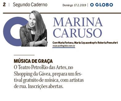 O Globo | Segundo Caderno - Marina Caruso