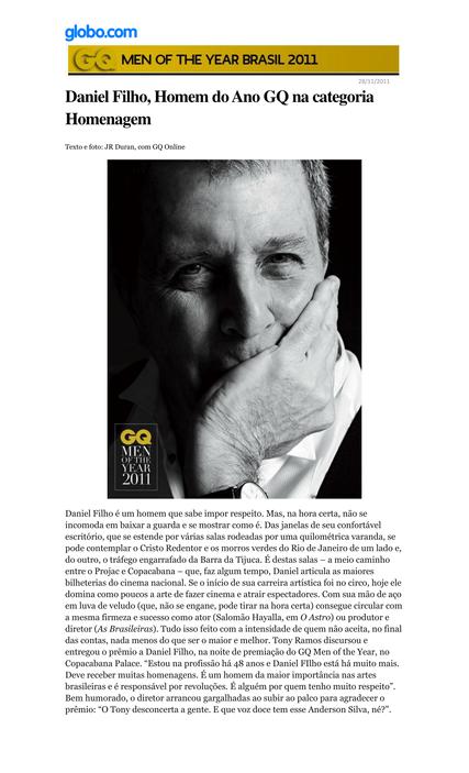 Premio GQ - Globo.com
