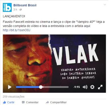 Facebook - Billboard Brasil