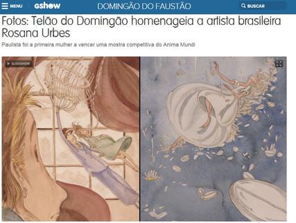 DIA - Telão do Faustão - Rosana Urbes