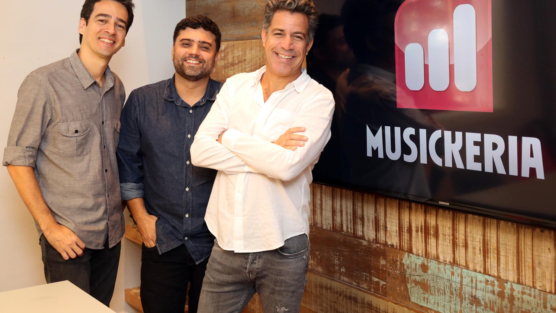Afonso Carvalho, Flavio Pinheiro e Luiz Calainho