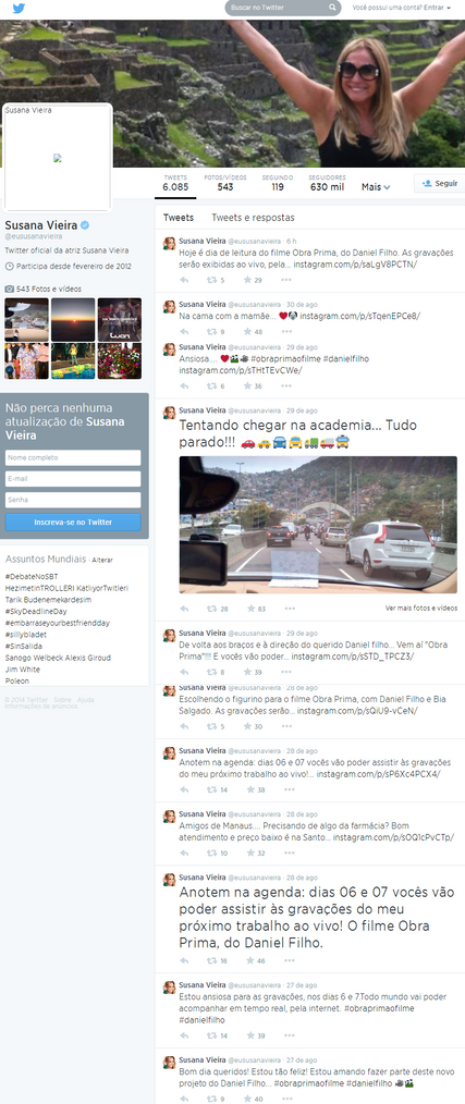 Twitter Susana Vieira