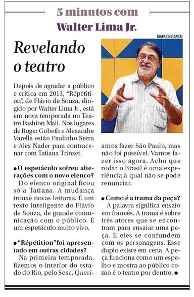 Segundo Caderno O Globo Teatro
