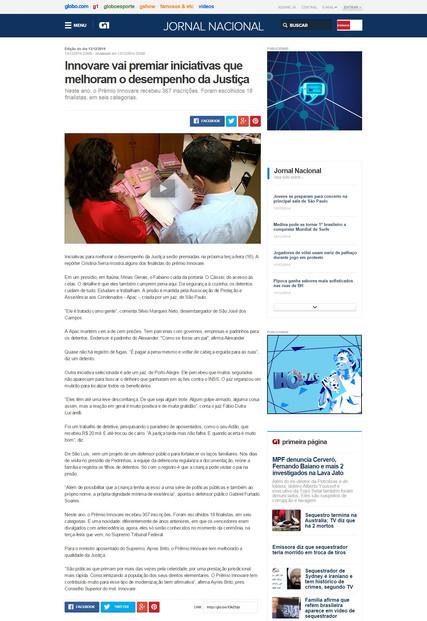 Jornal Nacional - Práticas finalistas Innovare
