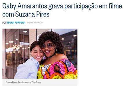Gaby Amarantos e Suzana Pires