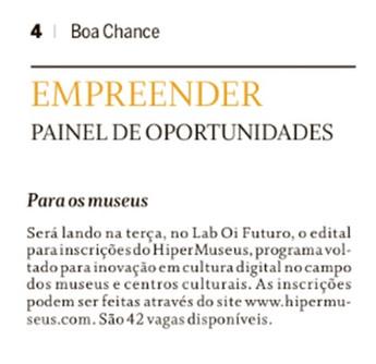 O Globo | Boa Chance