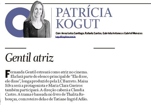 O Globo | Coluna Patricia Kogut