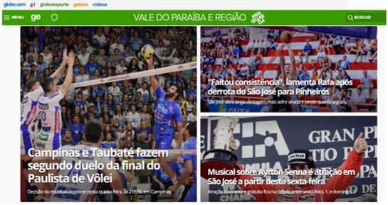 Homepage Globo Esporte