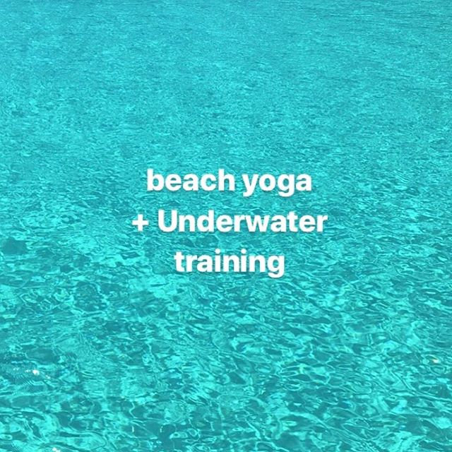 Beach yoga + Under water fitness
