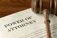 Power of Attorney paperwork and gavel