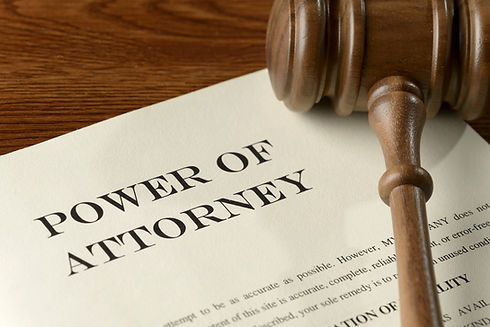 Health Care Proxy, living will, power of attorney