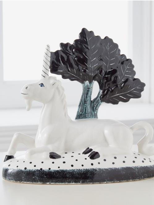 Unicorn – Classic Black & White Glazed Ceramic