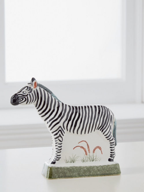 Zebra – Classic Black & White Glazed Ceramic
