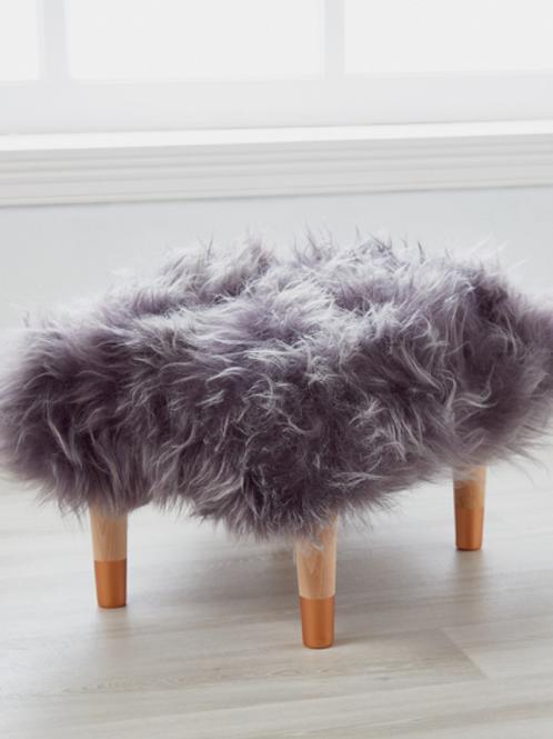 Cuddle Sheepskin Stool - Storm Grey