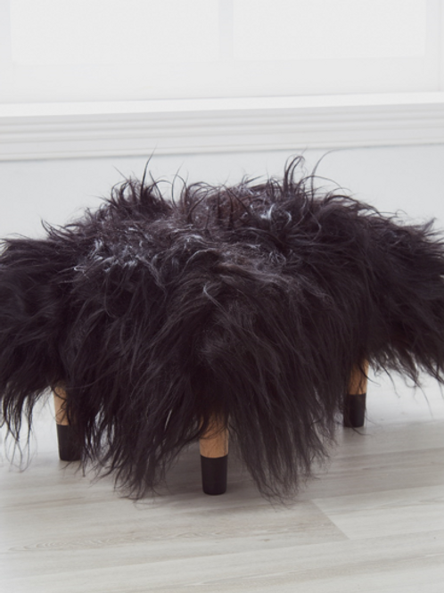 Cuddle Sheepskin Stool - Midnight