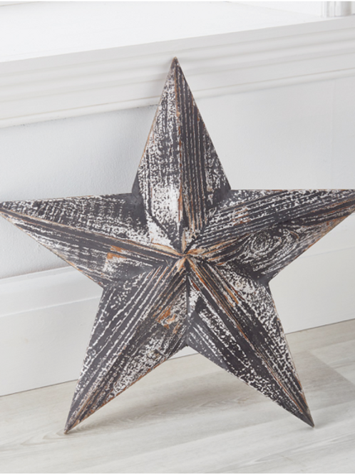 Distressed Wooden Star
