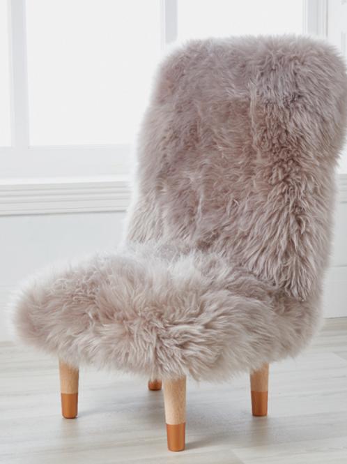 Cuddle Sheepskin Chair & Stool - Warm Mink
