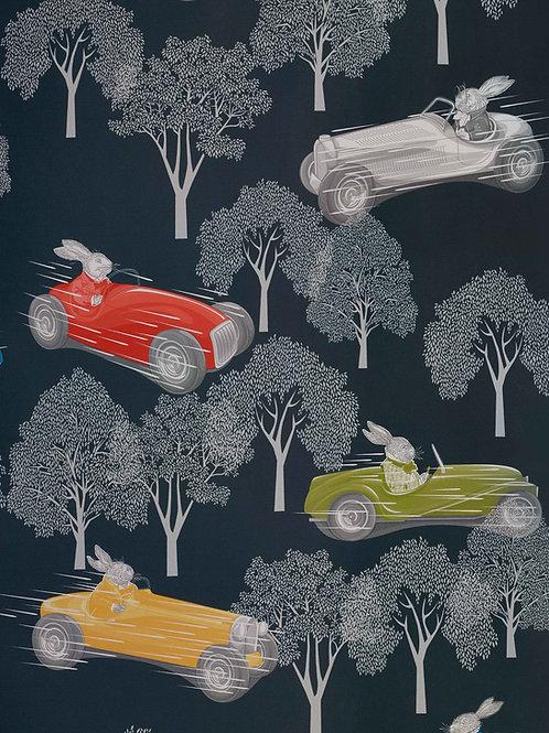 Speed, Midnight Blue Wallpaper - 10m Roll