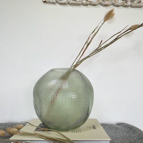 Price and Coco Interiors Light Green Handmade Textured Vase