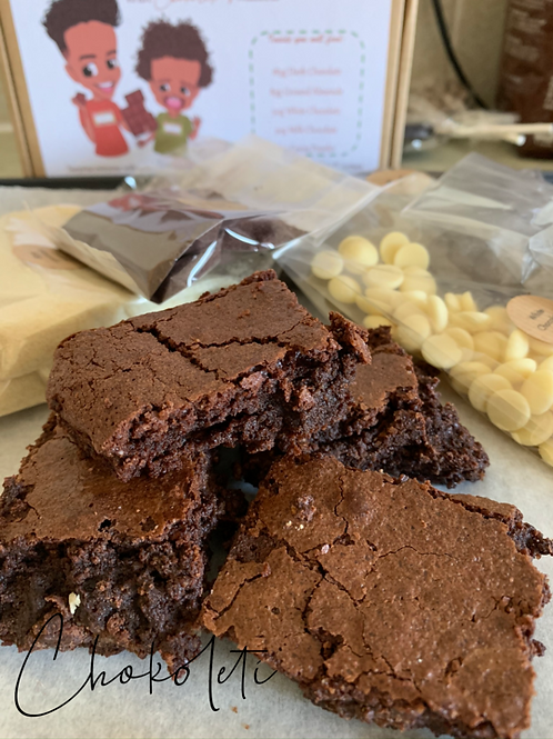 Chokoleti DIY Gourmet Triple Chocolate Brownie Kit