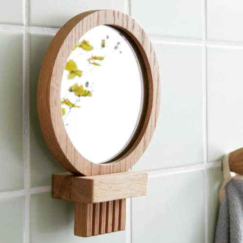 Price and Coco Interiors Removable Oak Bathroon Mirror