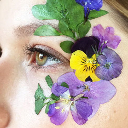 Face Florals Real Temporary Mixed Festival Flowers