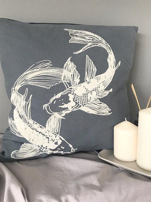 Price and Coco Interiors Denim Blue Koi Cushion